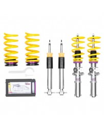 "Mustang 2015+ KW Suspensions - 1.2""-2.0"" x 0.8""-1.5"" V3 Inox-Line Coilover Lowering Kit"