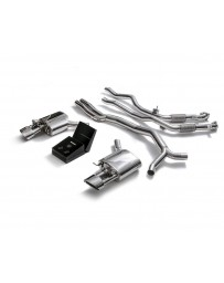 ARMYTRIX Stainless Steel Valvetronic Ceramic Coated High-Flow Catback Exhaust System w/Dual Chrome Silver Tips Audi RS4 RS5 B9