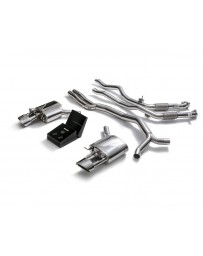 ARMYTRIX Stainless Steel Valvetronic Catback Exhaust System Dual Chrome Silver Tips Audi RS4 RS5 B9 2.9 V6 Turbo 2017-2020