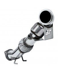Focus ST 2013+ ST 3 inch Competition Down Pipe with Cat - Polished T304