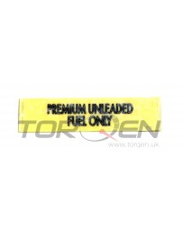 350z Nissan OEM Label - Unleaded Fuel Only 03-03/04