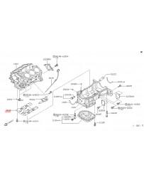 350z HR Z33 Nissan OEM Baffle Plate Oil Pan