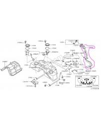 350z Z33 Nissan OEM fuel filler neck