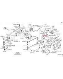 370z Z34 Nissan OEM Heater Core Hose Clamp 09-13