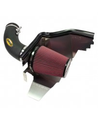 Mustang 2015+ AIRAID Cold Air Dam Intake System with SynthaFlow Red Air Filter and Black Intake Tube