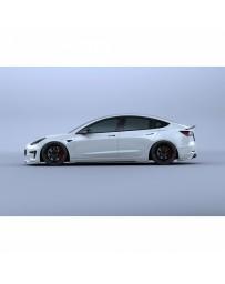 Artisan Spirits Black Label Side Under Spoiler (CFRP) - Tesla Model 3 2017+