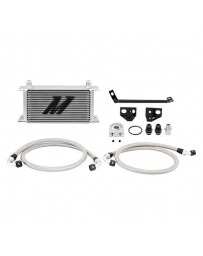 Mustang 2015+ Mishimoto Silver Painted Aluminum Oil Cooler Kit without Thermostatic