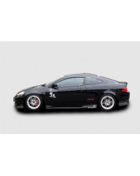 ChargeSpeed 05-06 RSX DC5 Kouki Bottom Line Carbon Side Skirts