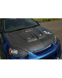 ChargeSpeed 02-06 RSX DC-5 Carbon Vented Hood (Japanese CFRP)
