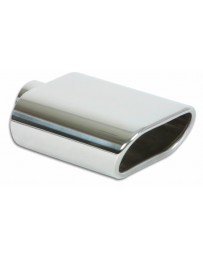 "Vibrant Performance 5.5"" x 3"" Oval Stainless Steel Tip (Single Wall, Angle Cut)"