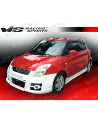 VIS Racing 2005-2008 Suzuki Swift 4Dr A Tech Side Skirts