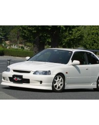ChargeSpeed 99-00 Civic All EK Front Spoiler (Japanese FRP)