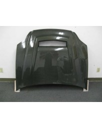 ChargeSpeed 99-00 Civic Carbon Vented Hood (Japanese CFRP)