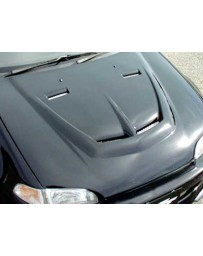 ChargeSpeed 92-95 Civic Coupe/ HB Vented FRP Hood