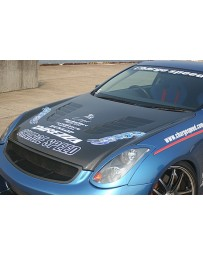 ChargeSpeed 03-07 Infiniti G-35 Coupe Vented Carbon Hood