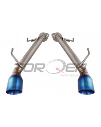 370z Top Speed Pro-1 Axle Back Exhaust System, Full Titanium with Burnt Tips