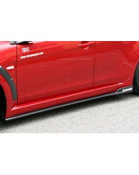 ChargeSpeed 08-10 Evo X Bottom Line Type-2 Side Skirts FRP