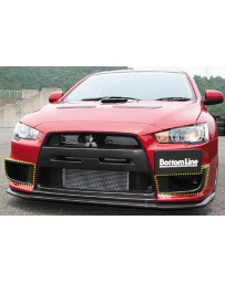 ChargeSpeed 08-16 Evo X OEM Side Duct Cowl Carbon (Pair)