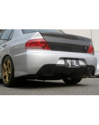 ChargeSpeed Evo IX OEM FRP Rear Bumper W/Carbon Diffuser
