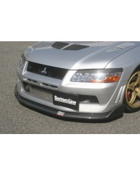 ChargeSpeed 2002 Evo VII Bottom Line Front Lip Carbon JDM Fit
