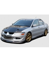 ChargeSpeed Evo VIII Bottom Line Full Lip Kit 5Pcs. Carbon