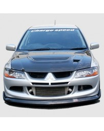 ChargeSpeed 03-05 Lancer Evo VIII Bottom Line Front Lip Carbon