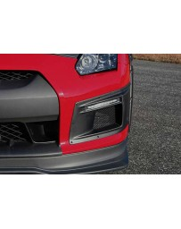 ChargeSpeed 2007-2011 Nissan GTR Carbon Front Bumper Duct LED